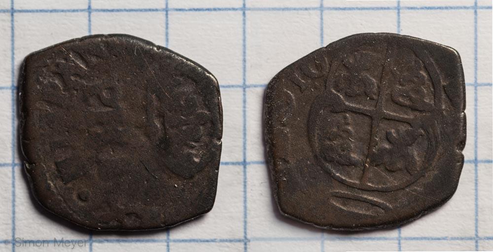 Münze aus R25 in R24 gefunden